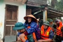 BĐBP tập trung lực lượng, phương tiệnkhắc phục hậu quả do mưa lũ